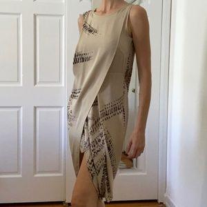 Max Azria Resort 2011 Batik Draped Goddess Dress 4